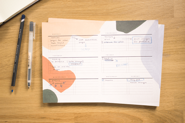 moglea stationery review weekly pad