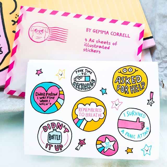 gemma correll self care stickers