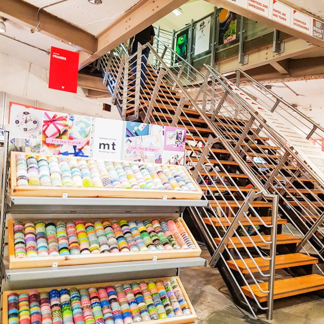 images shows a washi tape display in London Graphics Center