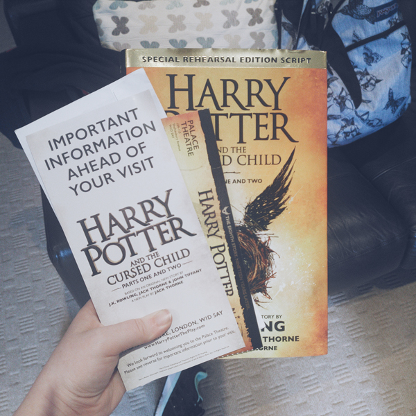Script book and tickets for Harry Potter and the Cursed Child