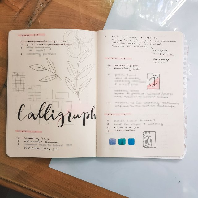 Daily logs in my bullet journal.