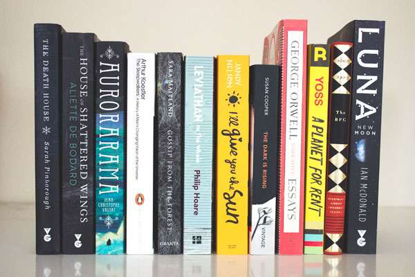 Spines of books bought while in London.