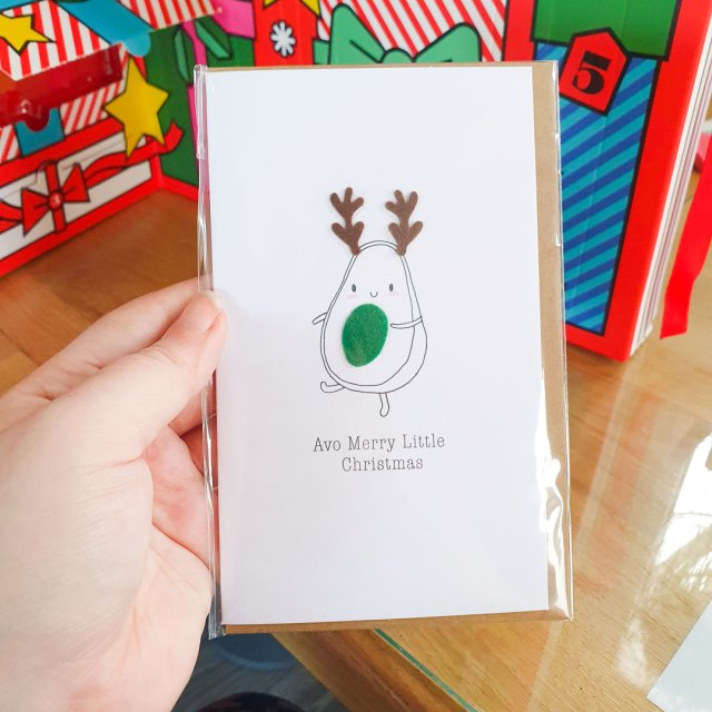 Avocado card from Paperchase.