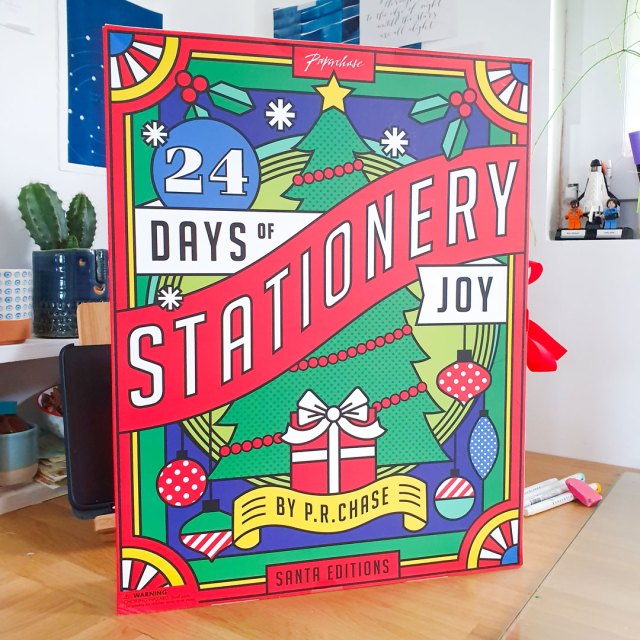Paperchase stationery advent calendar.