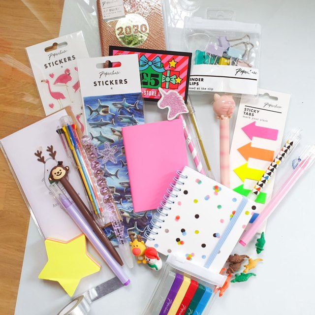 £50 worth of items in the Paperchase advent calendar.