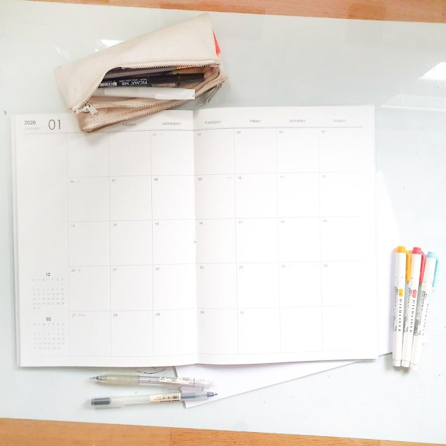 o-check monthly planners.
