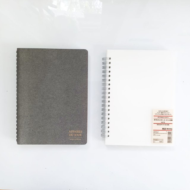Different types of cheap notebook.