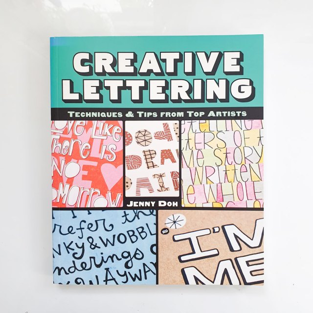 Cover of creative lettering. My favourite art books for beginners.