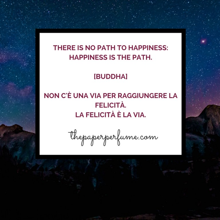 There is no path to happiness...