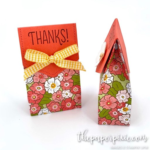This is a handmade Ornate Garden Mini Gift Bag craft project created by the Paper Pixie using Stampin' Up! supplies.