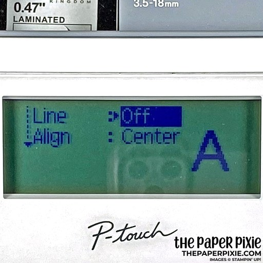 This is the label font settings I used for my Stampin' Up! Stampin' Blends organization.