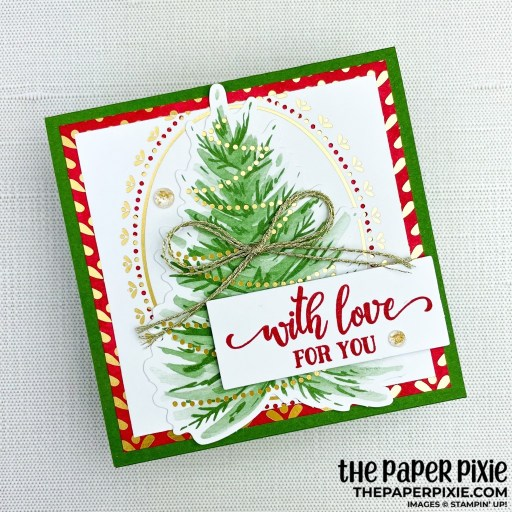This is a handmade card stamped with the Tag Buffet Stampin' Up! stamp set and Tag Buffet kit with the sentiment with love for you.