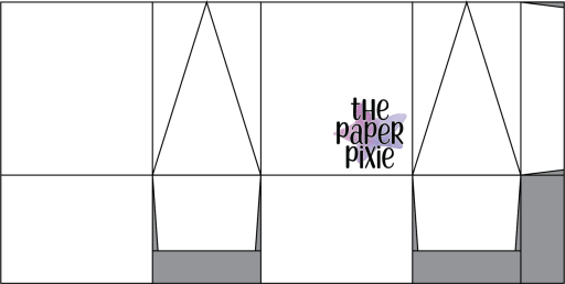 This is a template created by the Paper Pixie to go along with the video tutorial to assist you in making the Triangular Treat Box.