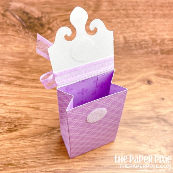 This is a handmade Mini Gift Bag created with the Elegantly Said Stampin' Up! bundle and the sentiment says thank you.