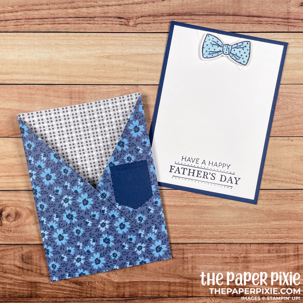 This is a handmade card made with the Well Suited Stampin' Up! product suite and the sentiment says have a happy father's day.