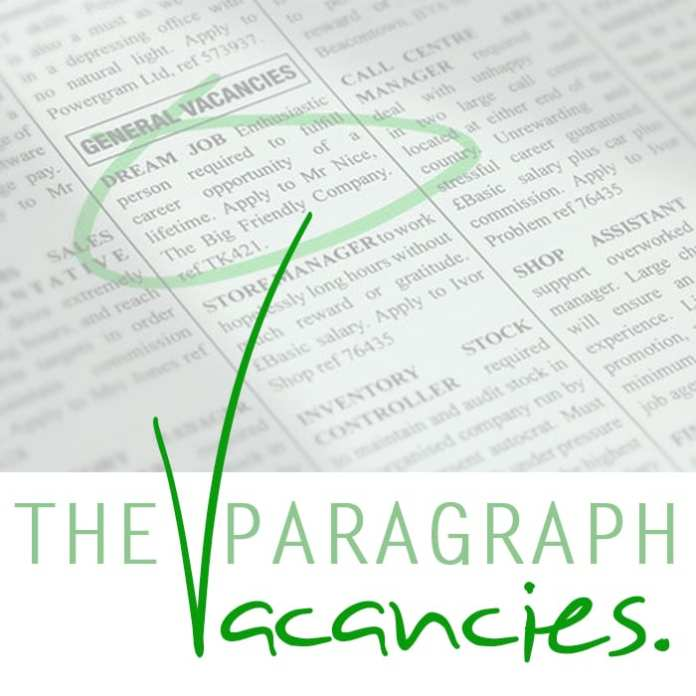 The Paragraph Vacancies