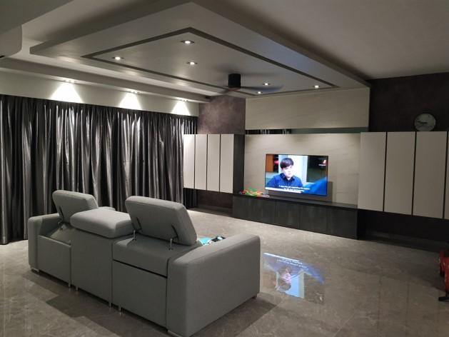 Living area Island false ceiling