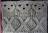 knit lace knit skull-and-bones