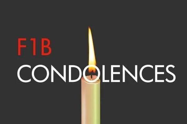 F1B Condolences