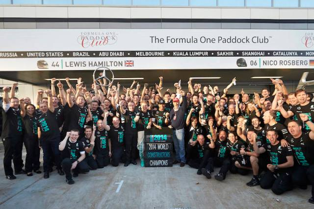 mercedes title 2014 team