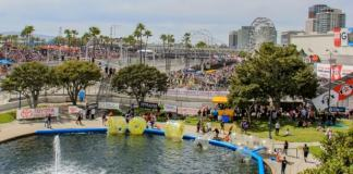 An overview of the Fan Zone at the Long Beach Grand Prix. -- Photo by Scott James, @sjamesphoto