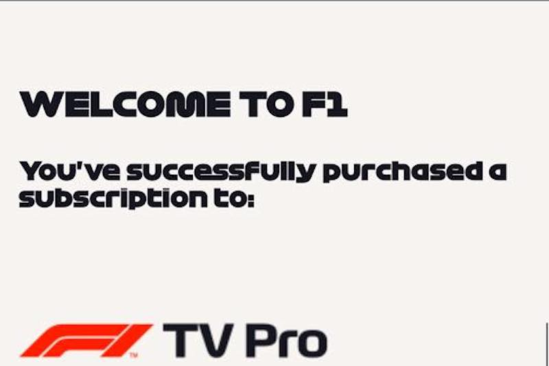 F1 website has signup for F1 TV Pro package - The Parc Fermé