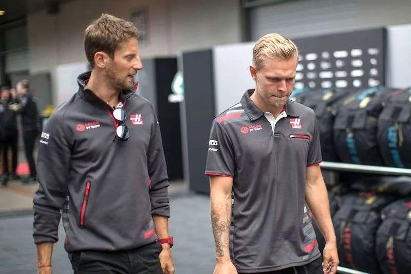 Haas F1 Grey Grosjean Fan Tee Shirt