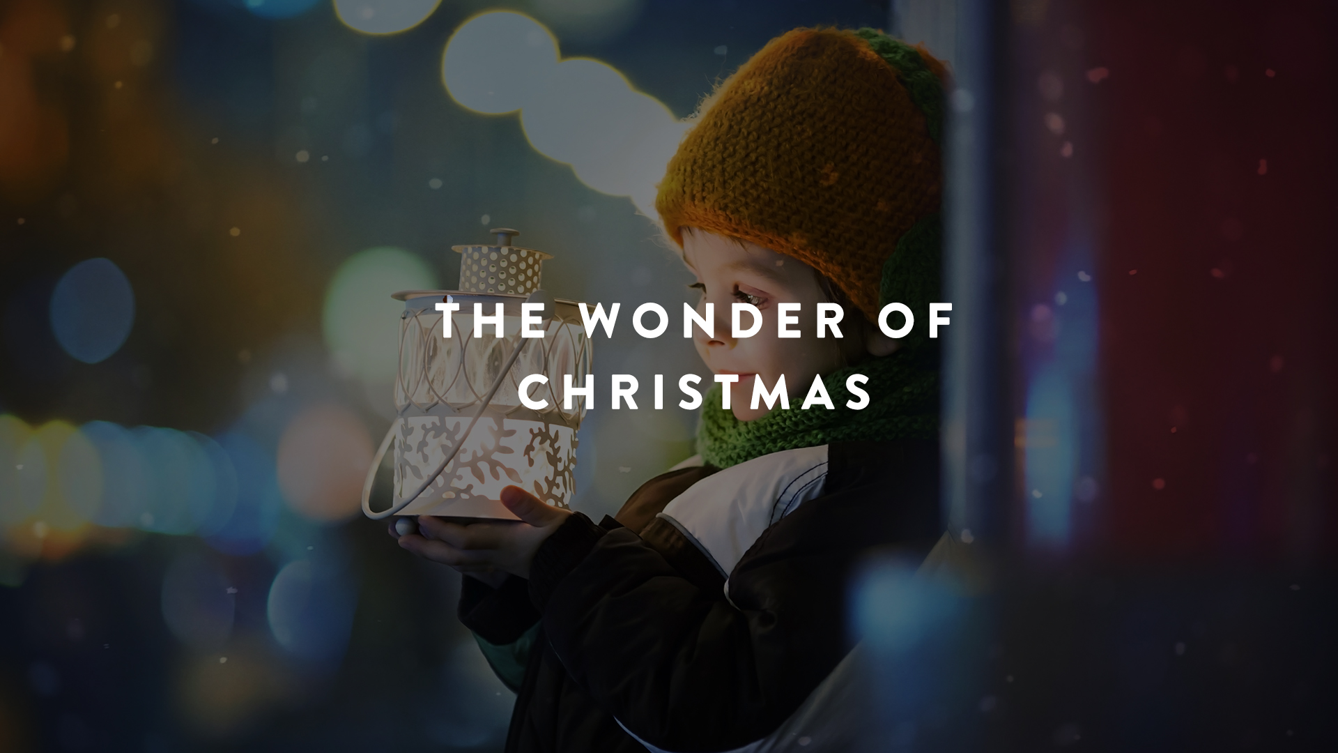 The wonder of Christmas - setting the stage for preschoolers