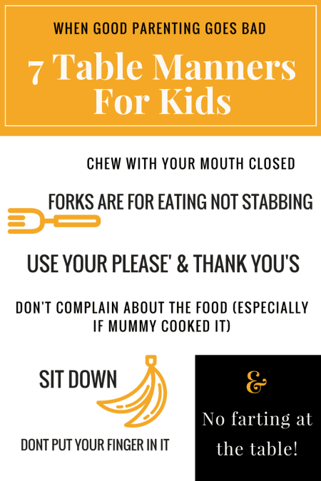 funny table manners for kids
