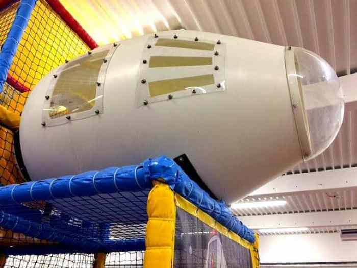 Space rocket childrens play area