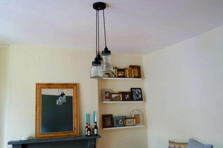 decorating lounge pendent jam jar ceiling lights