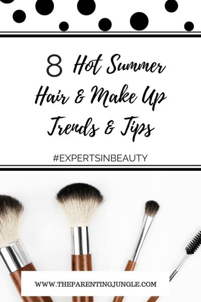 Pinterest 8 hot summer hair and make up tips