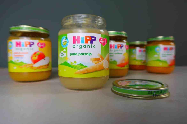 5 HiPP jars