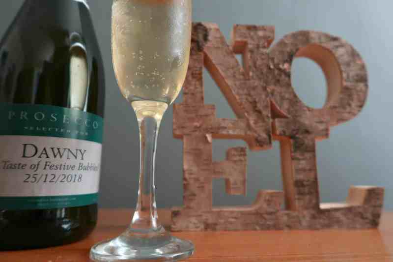 Personalised prosecco gift