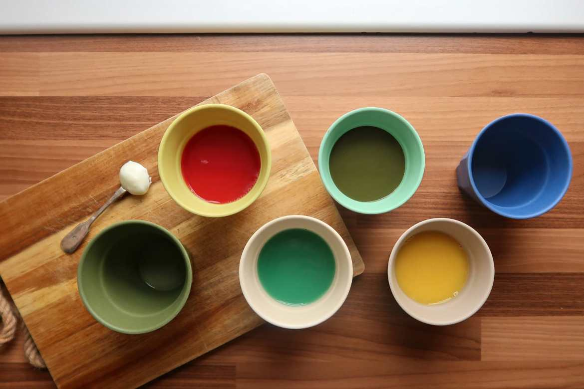 environmentally friendly living pastel bamboo cups