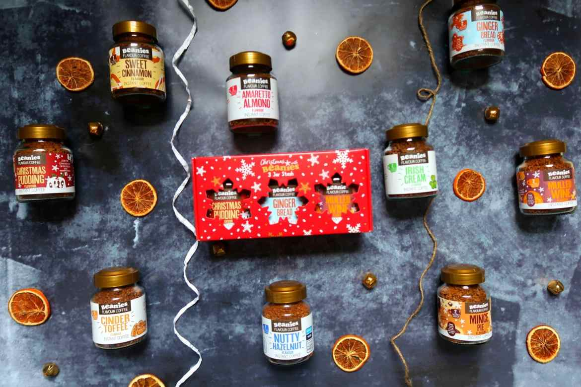 Beanies Christmas coffee Jars