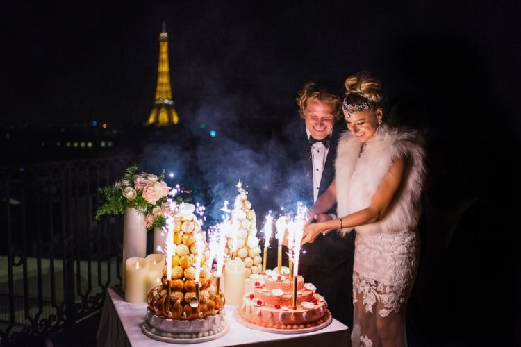 Elope in Paris - French Traditional wedding cake Croquembouche