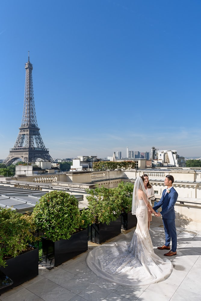 Get married on a Parisian rooftop or terrance - Shangri La Paris