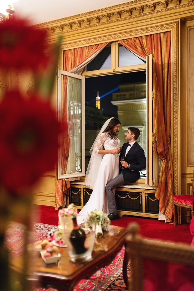 Intimate Paris elopement at a parisian hotel - Hotel Raphael in Paris