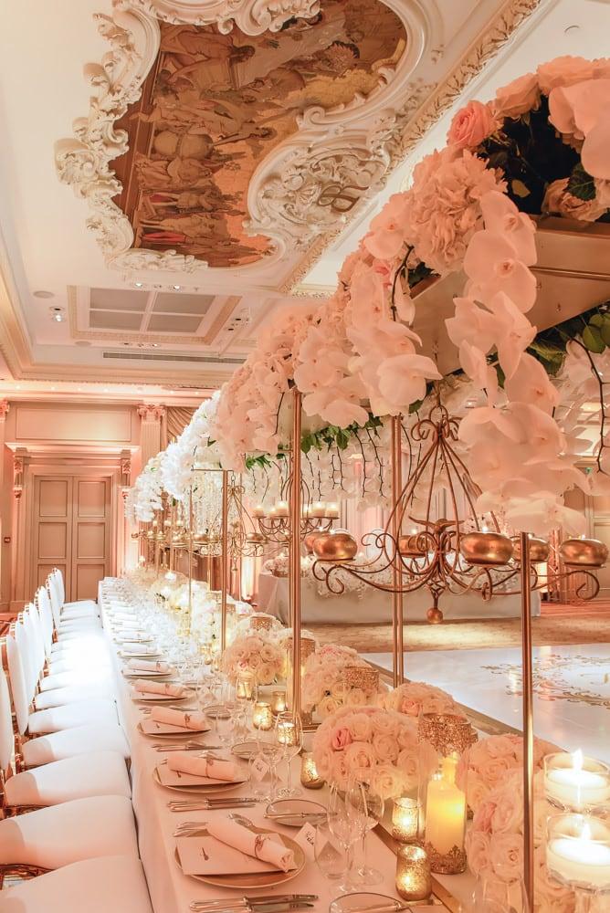 Luxury floral design - wedding Shangri La Paris