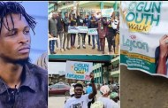 Ogun Youths Share Recharge Cards to Canvass Votes  for BBnaija Laycon