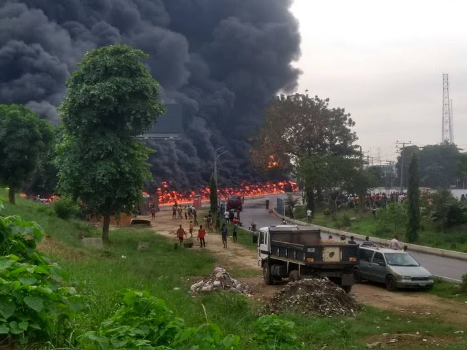 Fuel Laden Tanker Explodes in Oshodi