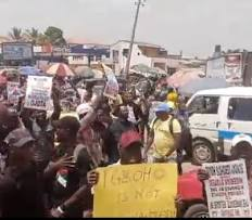 Sunday Igboho Supporters Launch Protest in Ibadan over DSS Raid