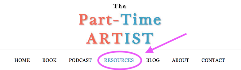 Location of the resources page on the website menu