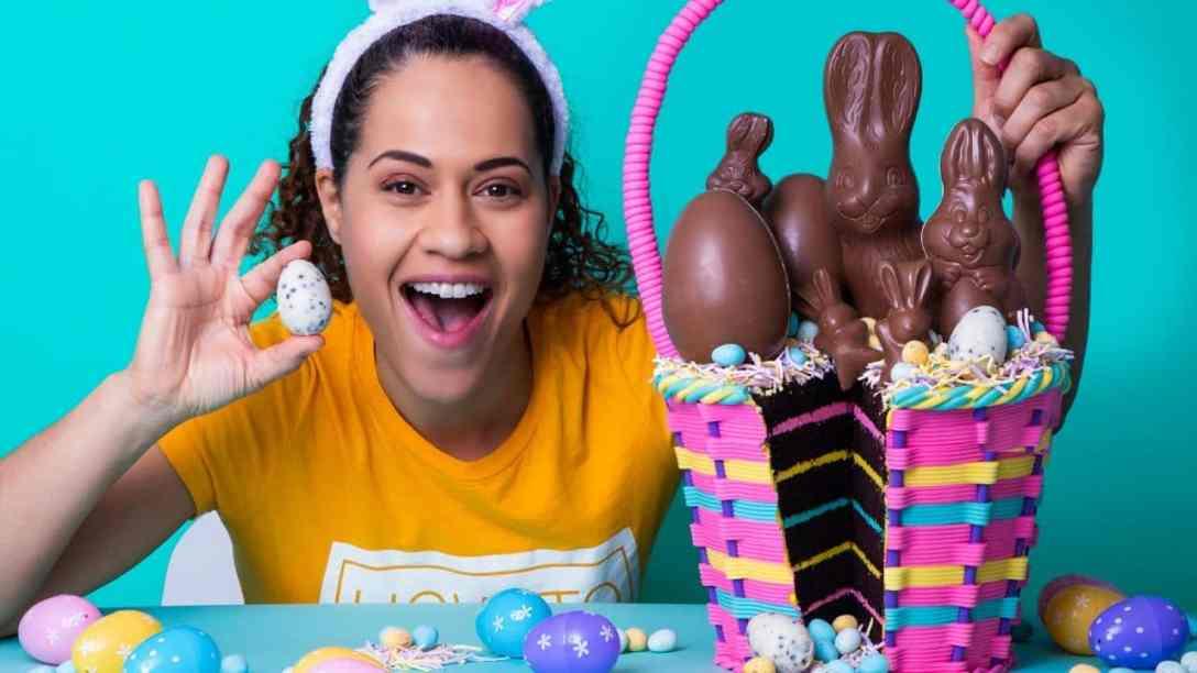 Easter Basket made of CAKE!   Chocolate Cake,...