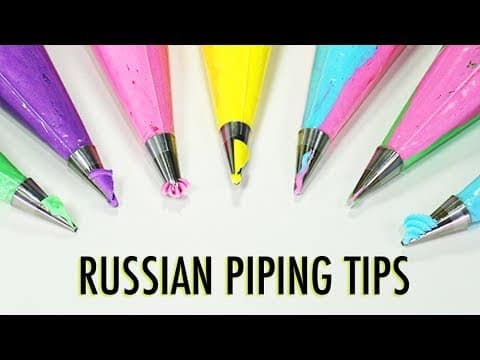 RUSSIAN PIPING TIPS - (THE POINTY ONES) -...