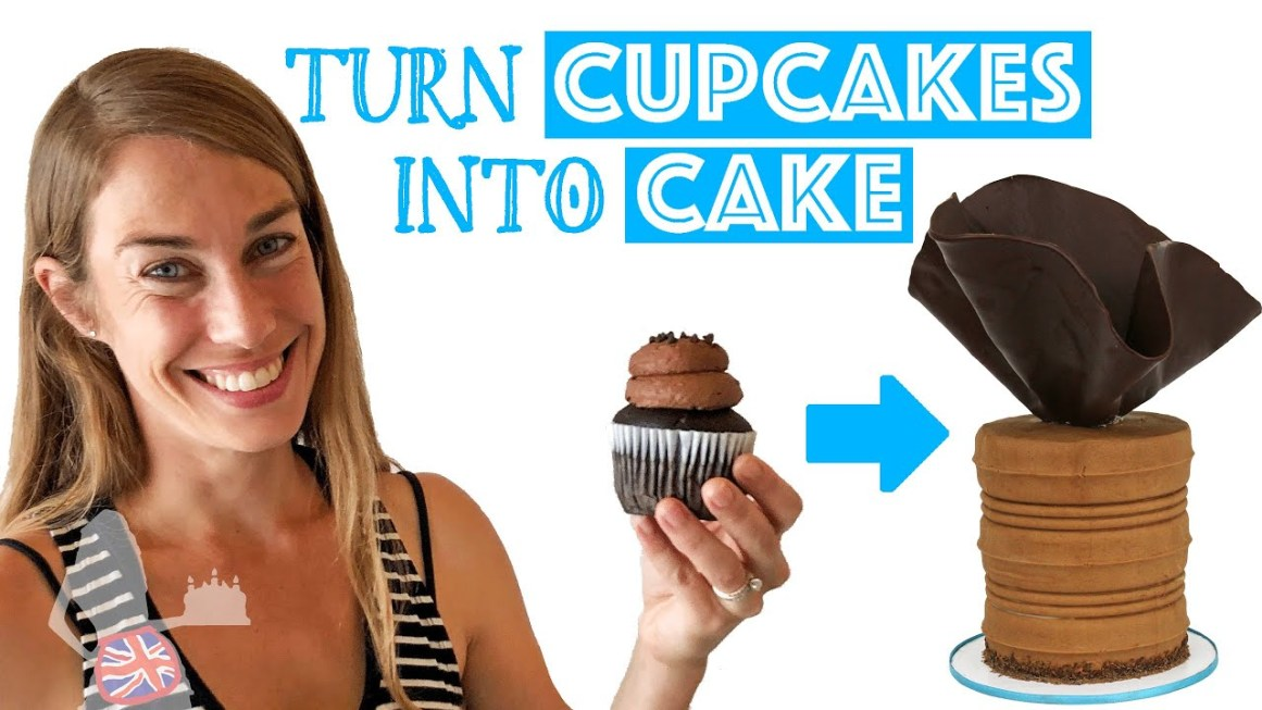 Try This Hack To Turn CUPCAKES Into CAKE!
