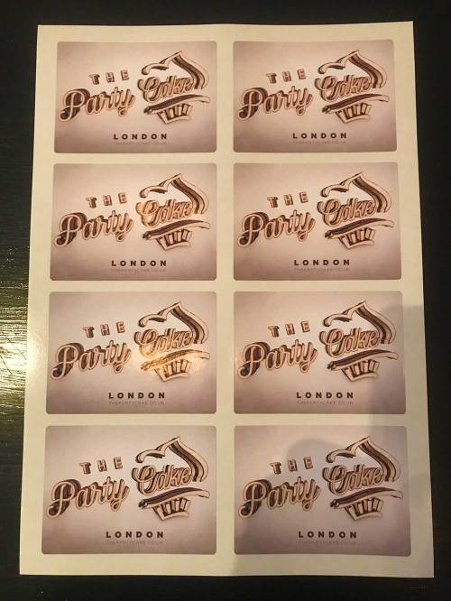 The Party Cake Shipping Stickers
