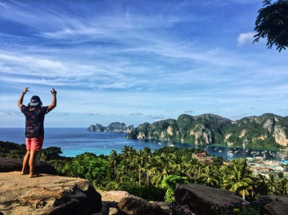 koh phi phi thailand viewpoint