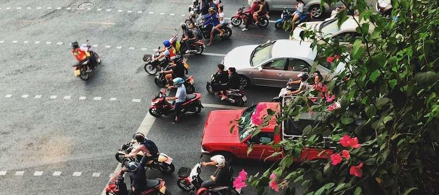 bangkok motorcycle traffic